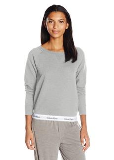 Calvin Klein Women's Modern Cotton Long Sleeve Sweatshirt  L