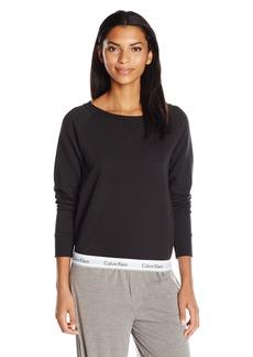 Calvin Klein Women's Modern Cotton Long Sleeve Sweatshirt  M
