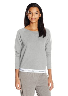 Calvin Klein Women's Modern Cotton Long Sleeve Sweatshirt  XL
