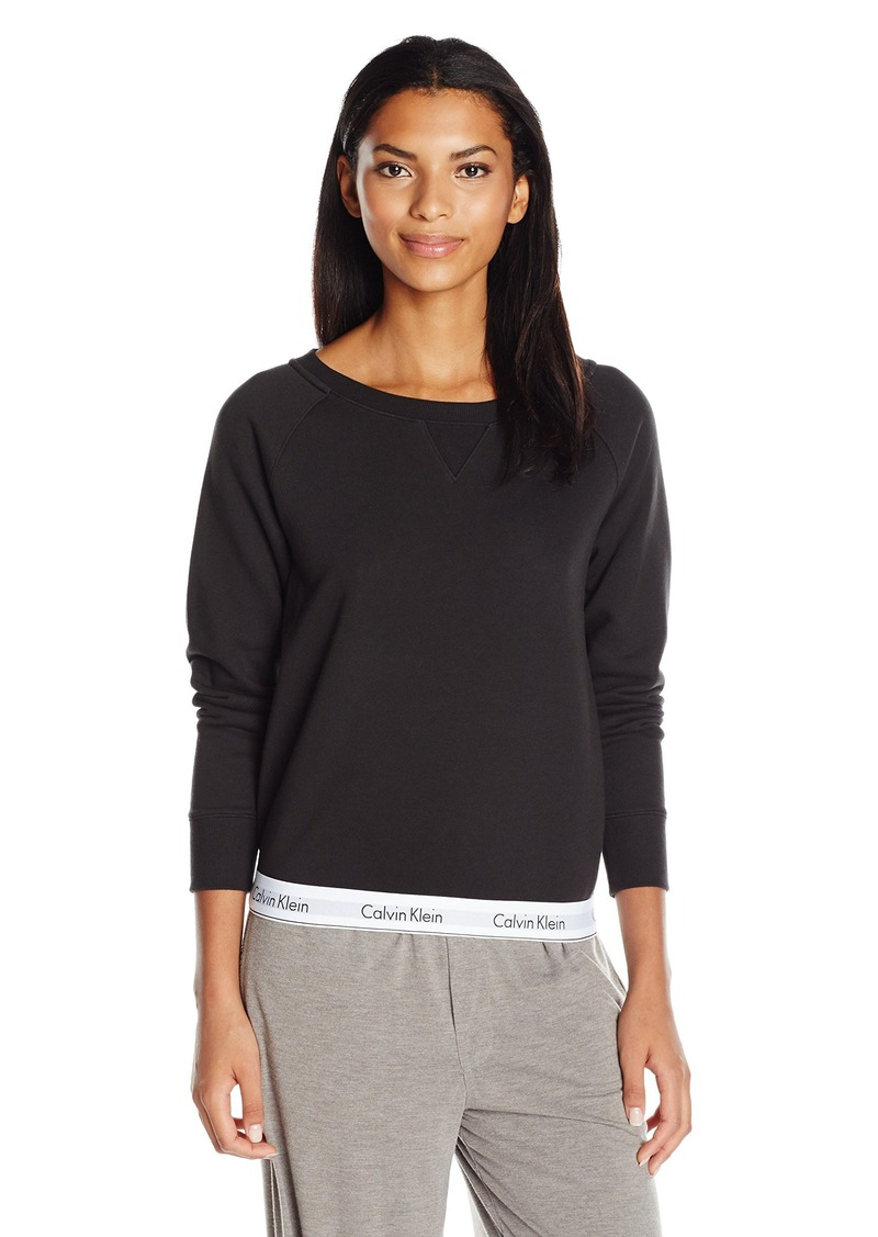 Calvin Klein Women's Modern Cotton Long Sleeve Sweatshirt  XS