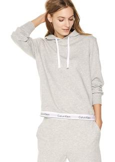 Calvin Klein Women's Modern Cotton Lounge Drawstring Hoodie  L