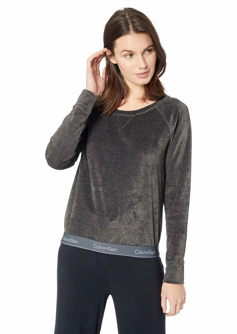 Calvin Klein Women's Modern Cotton Lounge Long Sleeve Sweatshirt  M