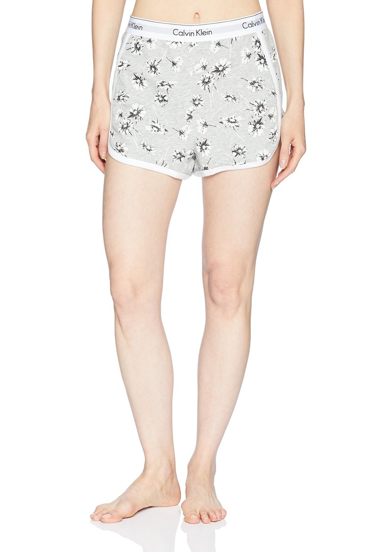 Calvin Klein Women s Modern Cotton Lounge Sleep Short Scattered Posy Grey  Heather L e0510f546