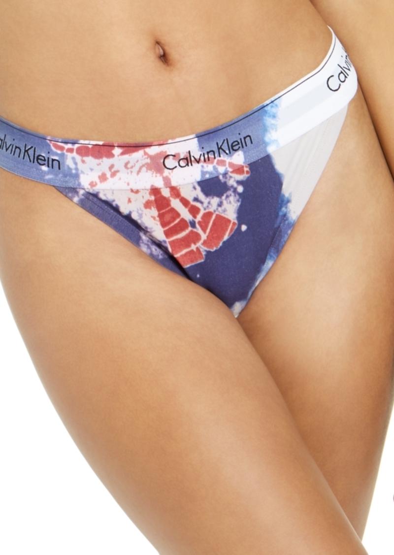 Calvin Klein Women's Modern Cotton Tie-Dye Tanga Underwear QF6059