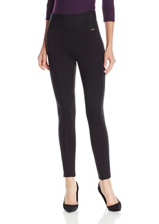 Calvin Klein Women's Modern Essential Power Stretch Legging with Wide Waist Band  X-Large