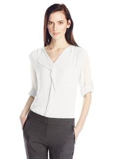 Calvin Klein Women's Modern Essential Ruffle Front Blouse