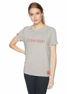 Calvin Klein Women's Monogram Lounge Crew Neck Tshirt
