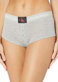 Calvin Klein Women's Monogram Mesh Boyshort  M