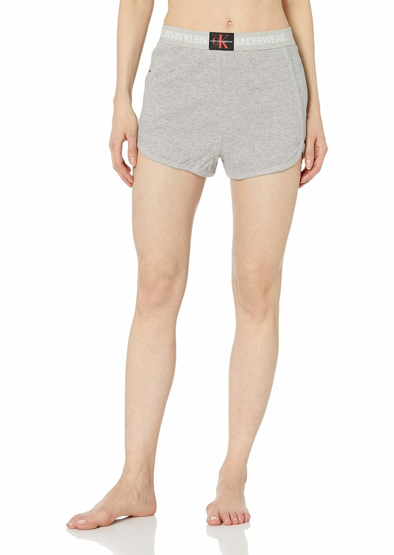 Calvin Klein Women's Monogram Mesh Sleep Short  S