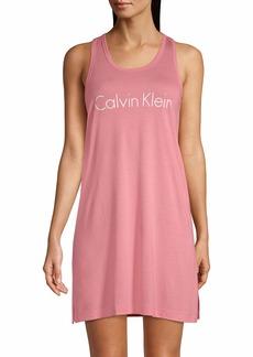 Calvin Klein Women's Motive Sleeveless Tank Sleepshirt Nightgown  S