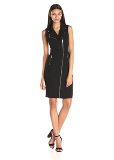 Calvin Klein Women's Moto Dress with Zips