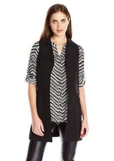 Calvin Klein Women's Moto Vest with Zips