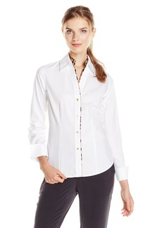 Calvin Klein Women's MSY Oxford Top W/Pg