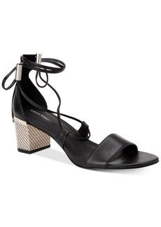 Calvin Klein Women's Natania Lace-Up Block-Heel Sandals Women's Shoes
