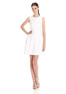 Calvin Klein Women's Novelty Fabric Fit-and-Flare Dress