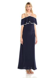 Calvin Klein Women's Off Shoulder Ruffle Maxi Dress