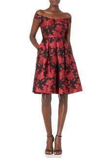 Calvin Klein Women's Off The Shoulder Party Dress with Sweat Heart Neckline