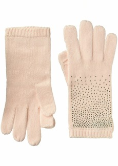 Calvin Klein Women's Ombre Crystal Studded Gloves blush O/S