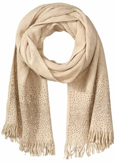 Calvin Klein Women's Ombre Crystal Studded Scarf heathered almond O/S