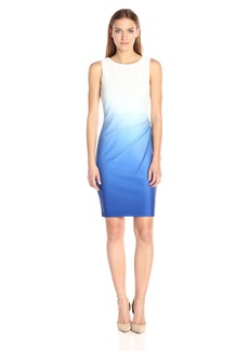 Calvin Klein Women's Ombre Starburst Sheath Dress