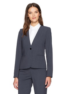 Calvin Klein Women's One Button Jacket With Stitching reg/Multi