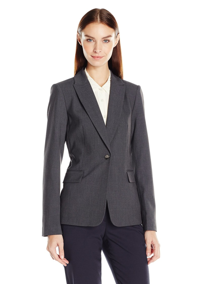 Calvin Klein Women's One Button Lux Blazer