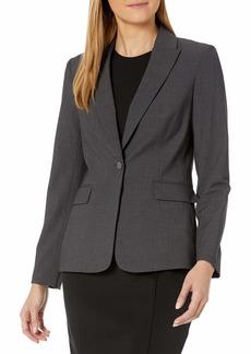 Calvin Klein Women's One Button Lux Blazer