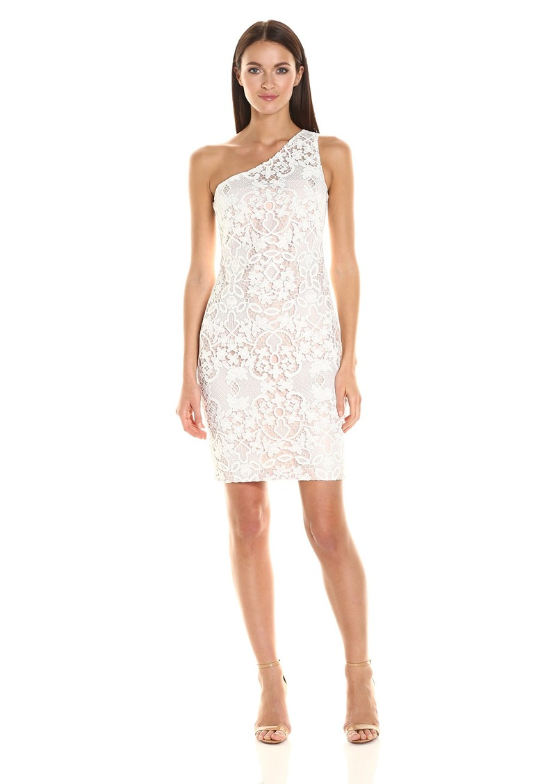 Calvin Klein Women's One Shoulder Lace Dress