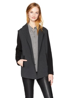 Calvin Klein Women's Open Front Jacket with Pockets  L