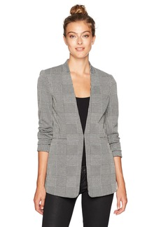 Calvin Klein Women's Open Glenplaid Jacket