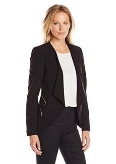 Calvin Klein Women's Open Jacket with 4 Zippers