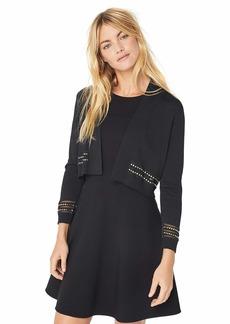 Calvin Klein Women's Open Knit Shrug with Embellished Trim  XL