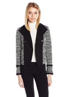 Calvin Klein Women's Open Tweed Jacket