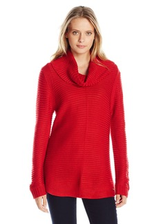 Calvin Klein Women's Ottoman Cowl Sweater