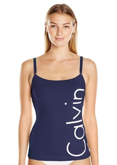 Calvin Klein Women's Over the Shoulder Lingerie Tankini with Removable Soft Cups