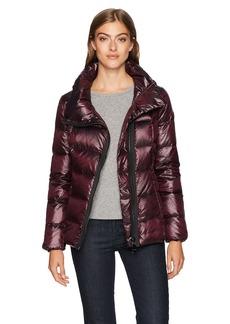 Calvin Klein Women's Pearlized Asymmetrical Zipper Down Jacket  M