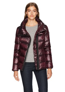 Calvin Klein Women's Pearlized Asymmetrical Zipper Down Jacket  XL