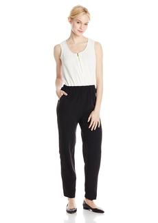 Calvin Klein Women's Pebble Crepe Colorblock Jumpsuit