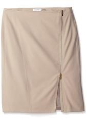Calvin Klein Women's Pencil Skirt with Assymetrical Zip