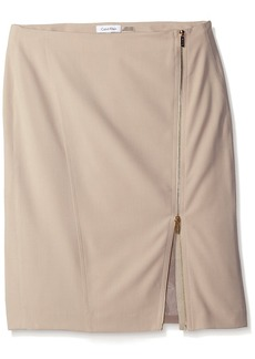 Calvin Klein Women's Pencil Skirt with Assymetrical Zip