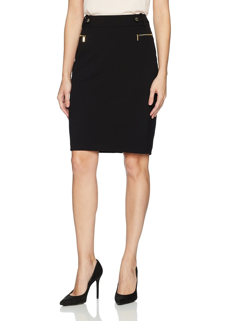 Calvin Klein Women's Pencil Skirt with Hardware