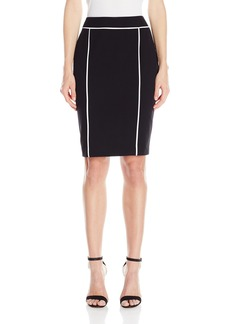 Calvin Klein Women's Pencil Skirt with Piping