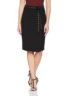 Calvin Klein Women's Pencil Skirt with Studded Belt