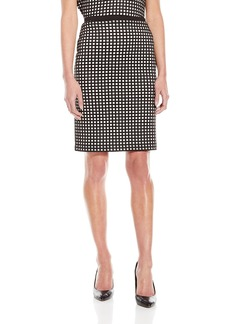 Calvin Klein Women's Perforated Pencil Skirt with Mesh