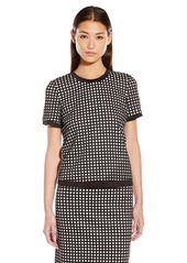 Calvin Klein Women's Perforated Top with Mesh