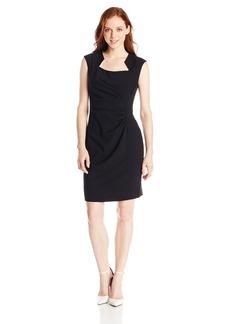 Calvin Klein Women's Petite Cap-Sleeve Sheath Dress2P