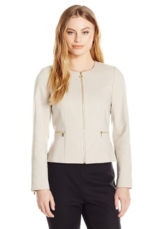 Calvin Klein Women's Petite Size Cotton Zipper Jacket  14P