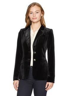 Calvin Klein Women's Petite Velvet 2 Bttn Jacket  14P