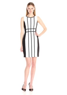 Calvin Klein Women's Piped Sleeveless Sheath Dress