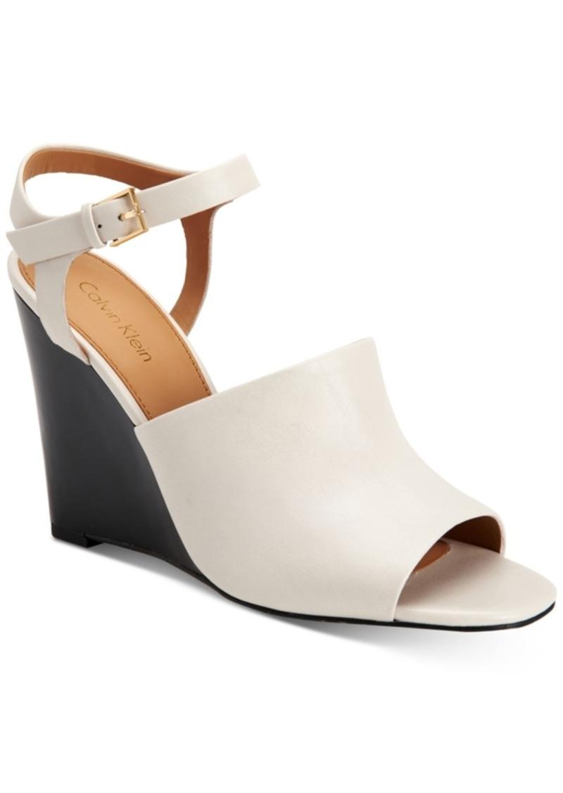 5477ec810cb1 Calvin Klein Calvin Klein Women s Pirra Wedge Sandals Women s Shoes ...